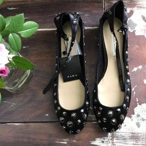 Zara woman studded shoes